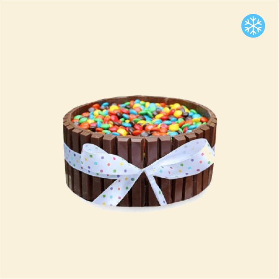 Layer cake Chocolat KitKat, Smarties
