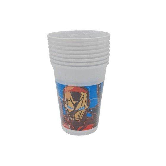Lot de 8 gobelets Avengers