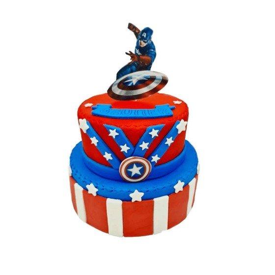 Gâteau d'anniversaire Capitaine America - Pièce montée
