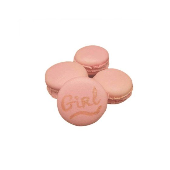 Macarons baby shower fille