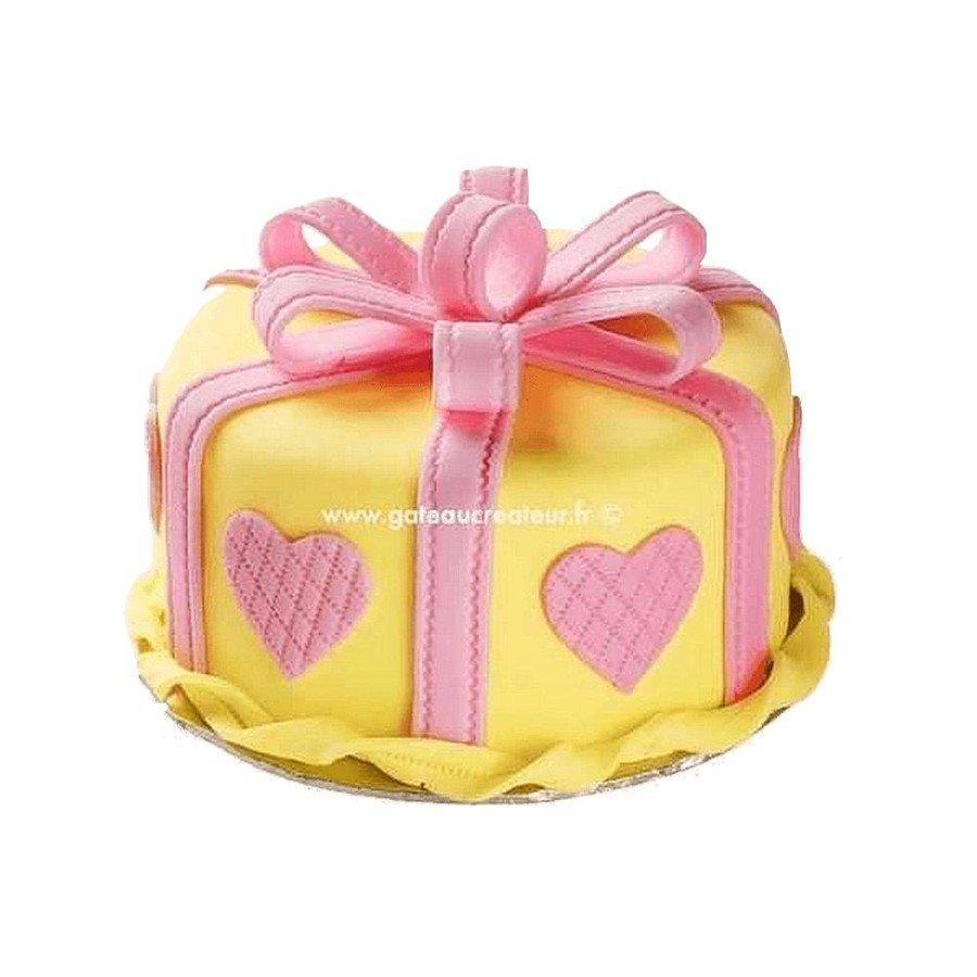 Gâteau cadeau saint-valentin