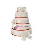 Pièce montée mariage Diamants et Noeuds - Wedding cake