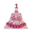 Pièce montée, Gâteau enfant rose