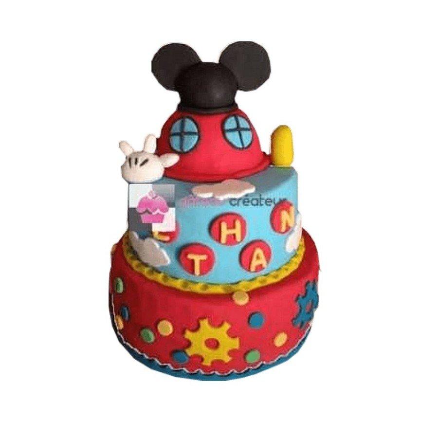 Pièce montée, Gâteau d'anniversaire La Maison de Mickey
