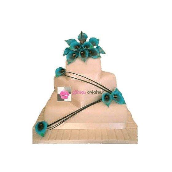 Pièce montée Mariage Fleurs Fraiches - Wedding cake