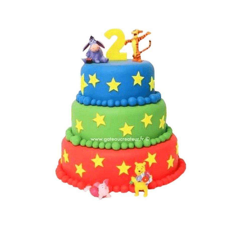 Pièce montée, Gâteau d'anniversaire Winnie L'ourson et ses Amis