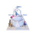Gâteau d'anniversaire La Reine des Neiges Bleu