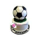 Gâteau d'anniversaire - Pièce montée Ballon de Football 3D