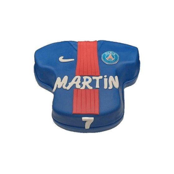 Gâteau d'anniversaire Maillot de Foot PSG personnalisé