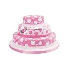 Gâteau rose à Pois