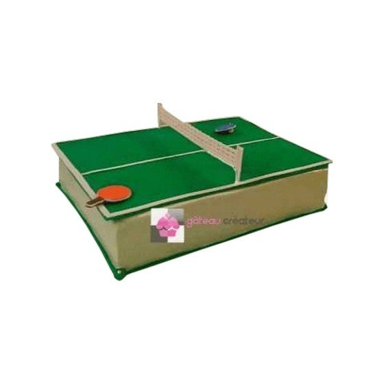 Gâteau d'anniversaire table de ping pong