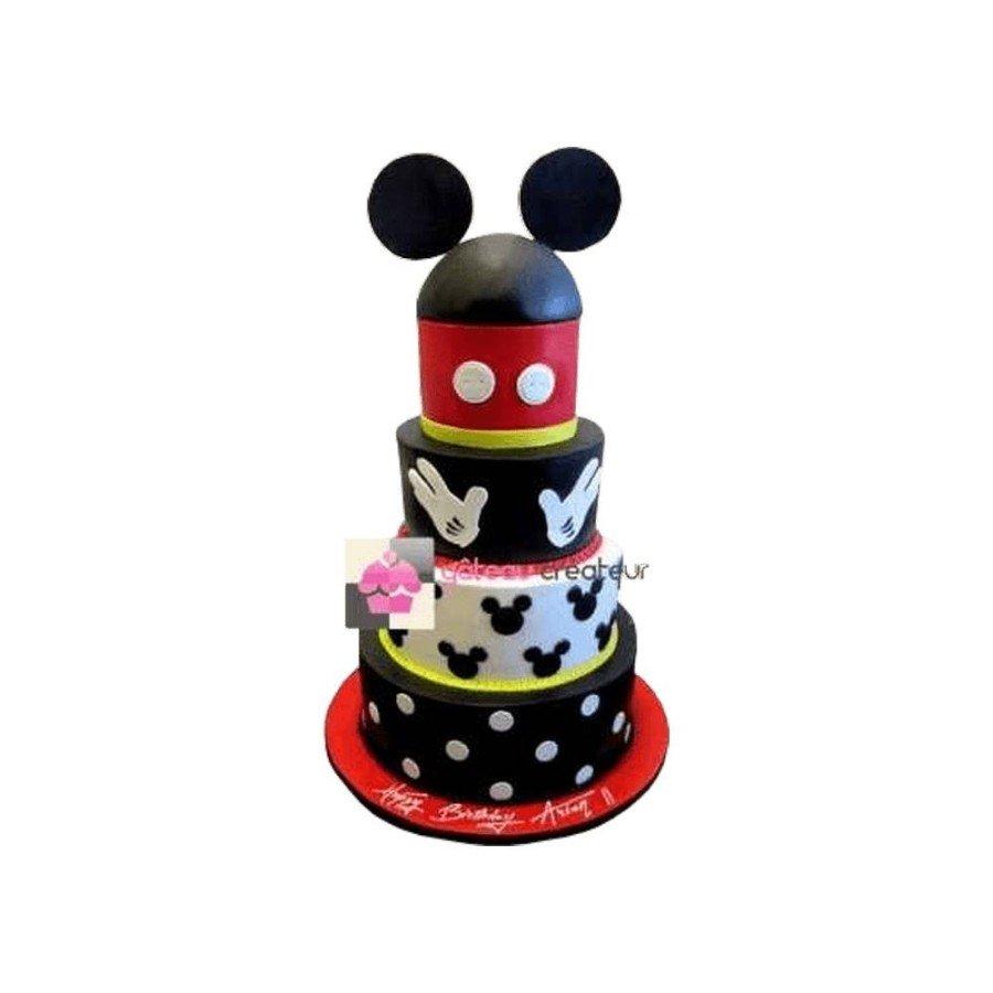 Gâteau d'anniversaire - Pièce montée Mickey