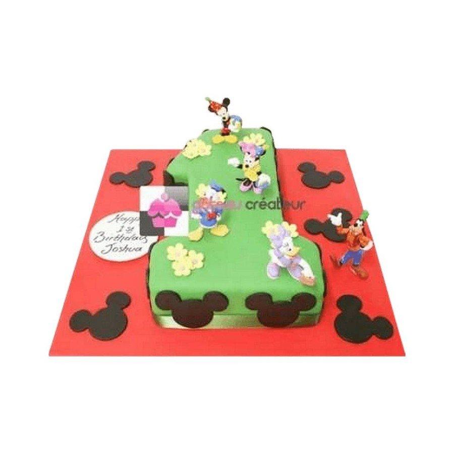 Gâteau d'anniversaire Chiffre, Mickey et ses Amis