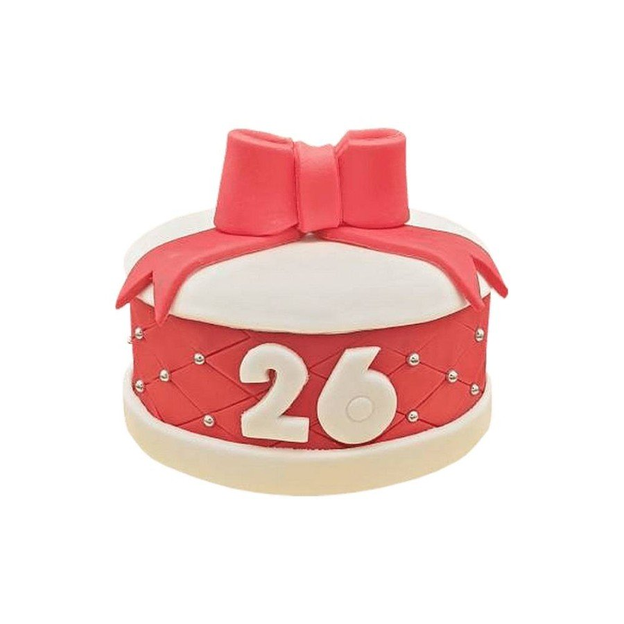 Gâteau d'anniversaire Cadeau rouge
