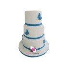Gâteau d'anniversaire Papillons bleus - Pièce montée