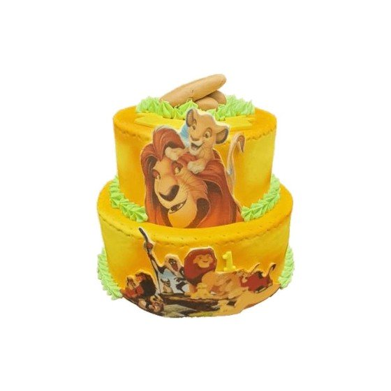 Gâteau d'anniversaire Le roi Lion - Cascade, Rivière
