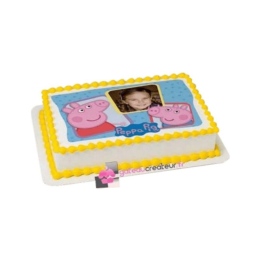 Gâteau Photo personnalisable Peppa pig