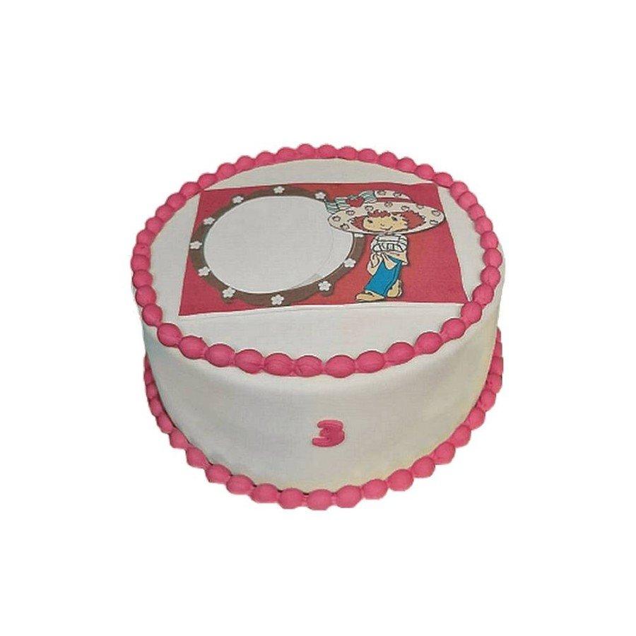 Gâteau Photo personnalisable Charlotte aux fraises