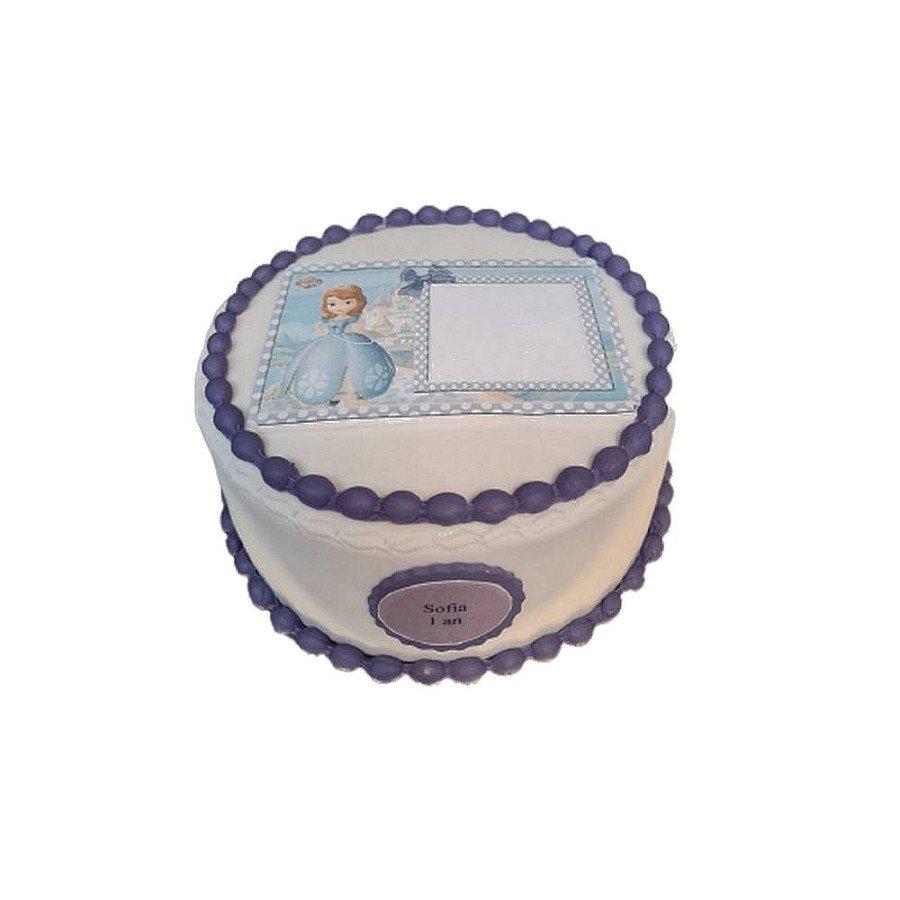 Gâteau Photo personnalisable Princesse Sofia