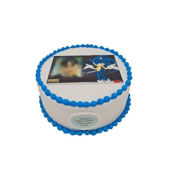 Gâteau Photo personnalisable Sonic