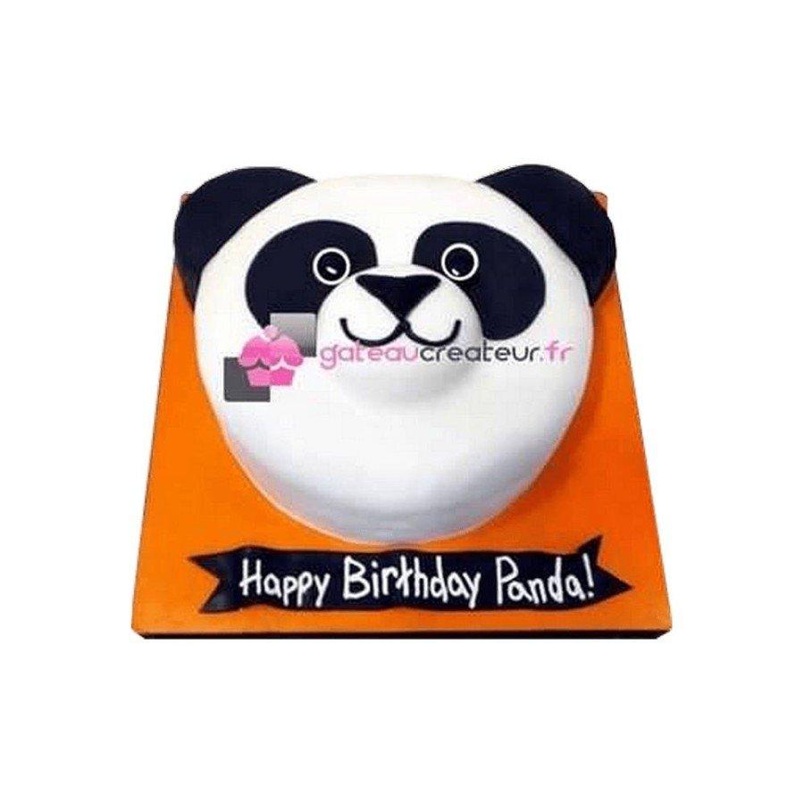 Gâteau d'anniversaire Panda 2D