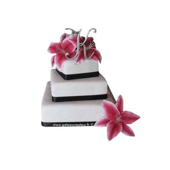Pièce montée Mariage Fleurs Exotiques - Wedding cake