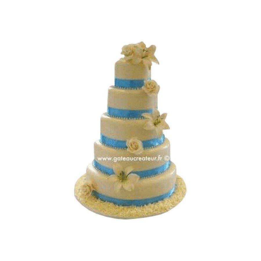 Pièce montée Mariage Fleur de Souffre - Wedding cake