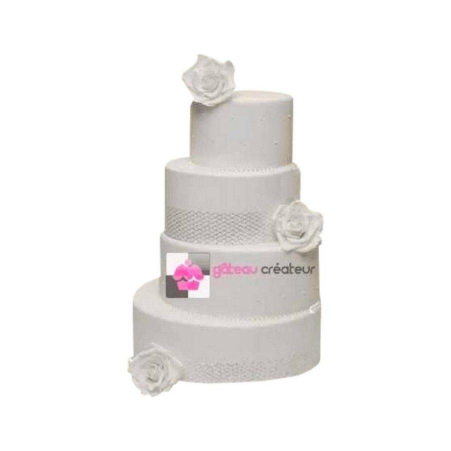 Pièce montée Mariage Asymétrique - Wedding cake