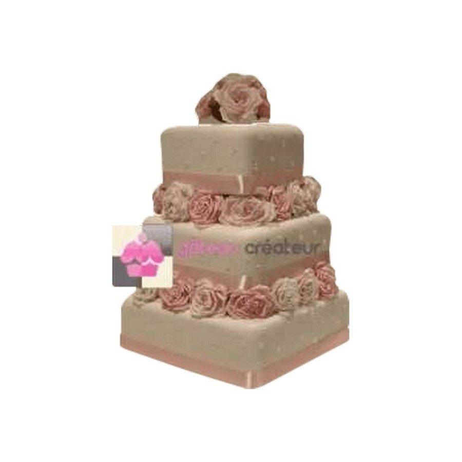 Wedding cake Beauty Carré - Piece montee mariage