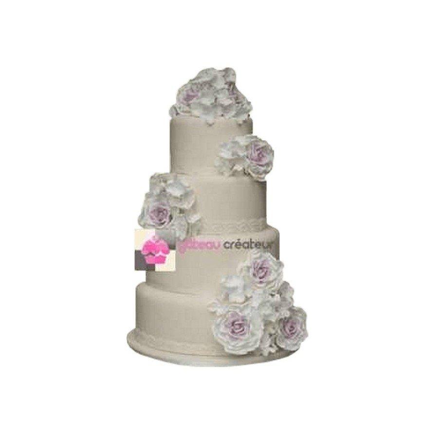 Pièce montée Mariage Bouquet Fleuri - Wedding cake