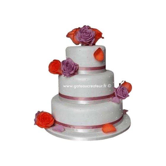 Pièce montée Mariage Pétales Rosé- Wedding cake