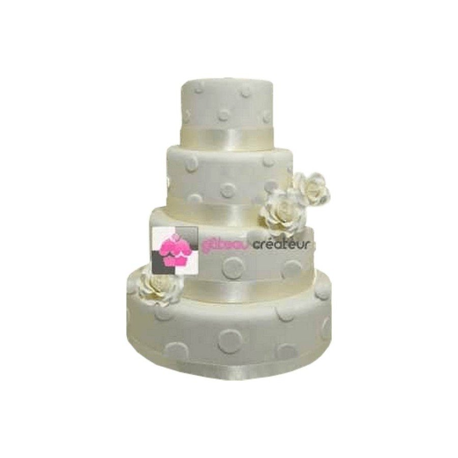 Pièce montée Mariage à Pois- Wedding cake