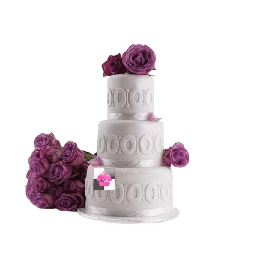 Pièce montée Mariage Rose Purple - Wedding cake