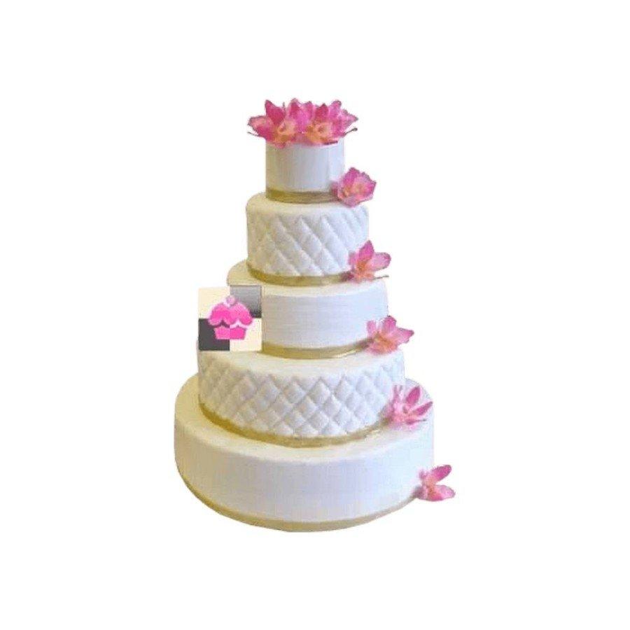 Pièce montée Mariage Fleurs D'orchidées- Wedding cake