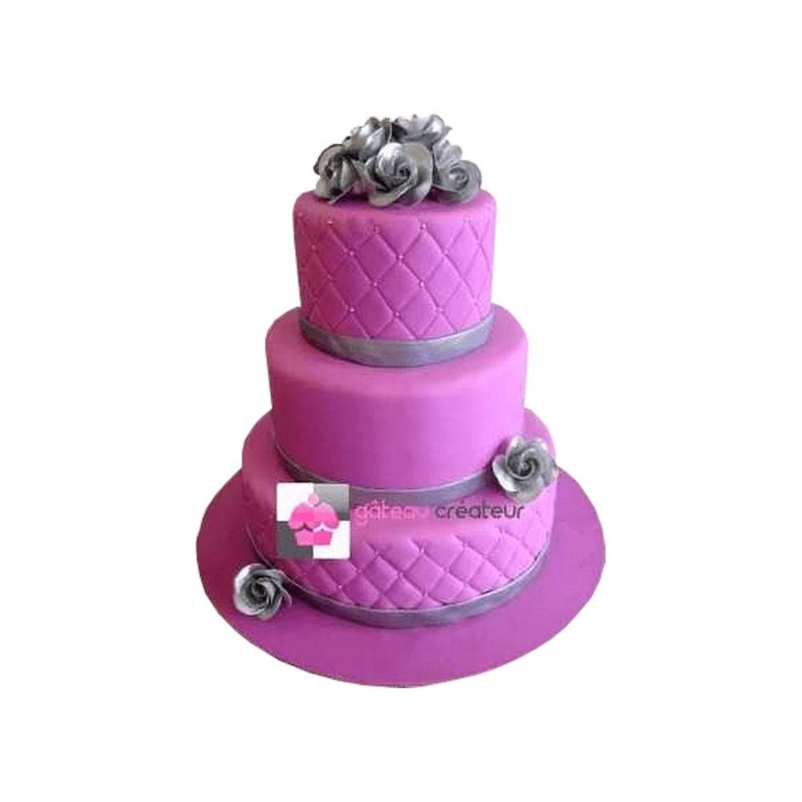 Pièce montée Mariage Violet - Wedding cake