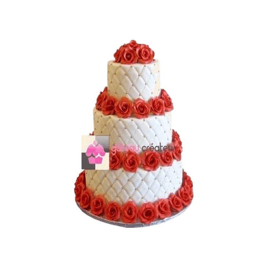 Pièce montée Mariage Couronnes de Roses - Wedding cake