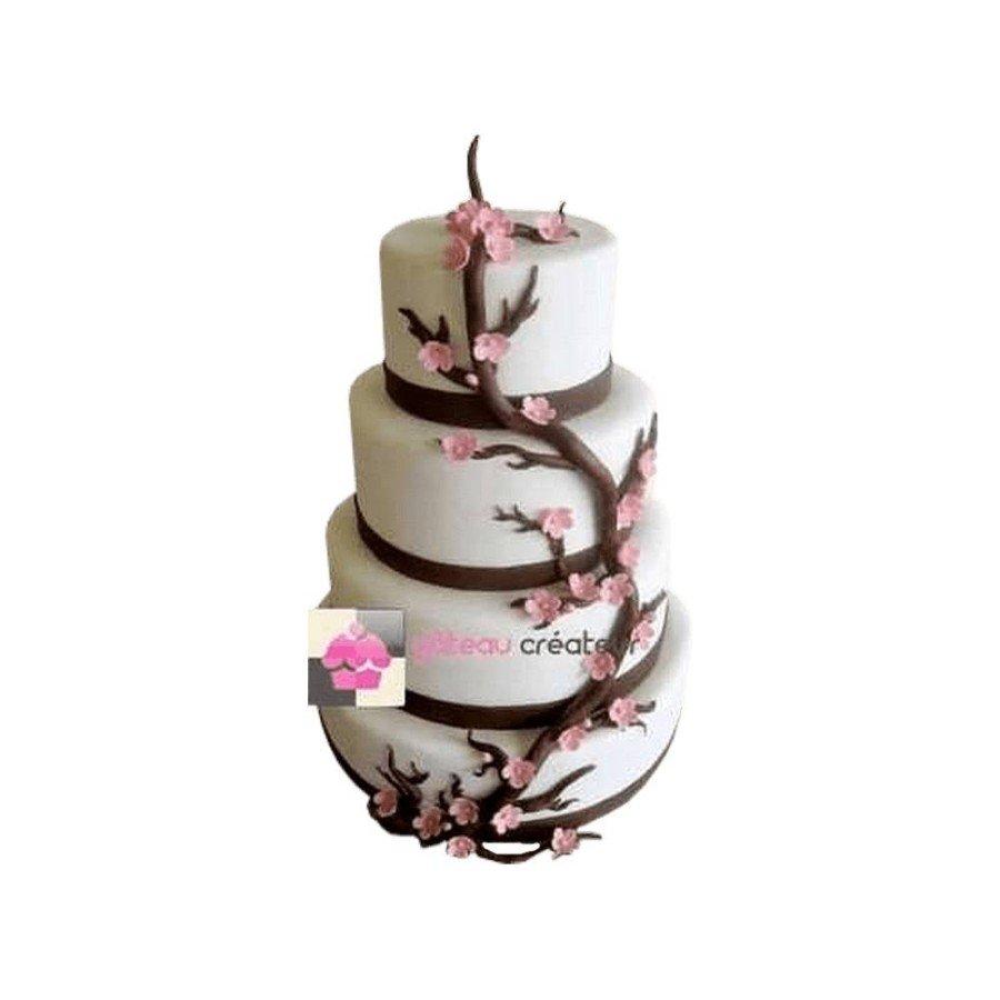 Pièce montée Mariage Fleurs de Cerisier - Wedding cake