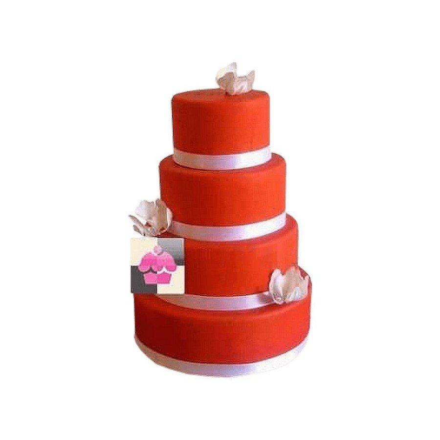 Pièce montée Mariage Rouge- Wedding cake
