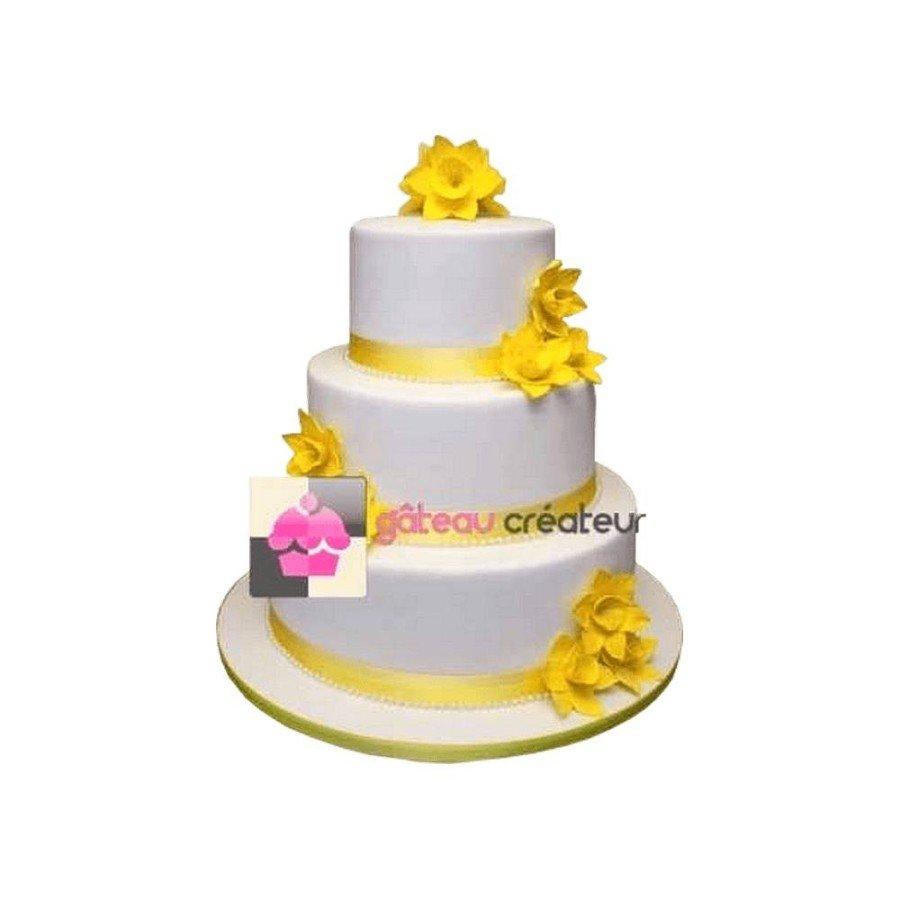 Wedding cake Jonquille- Piece montee mariage