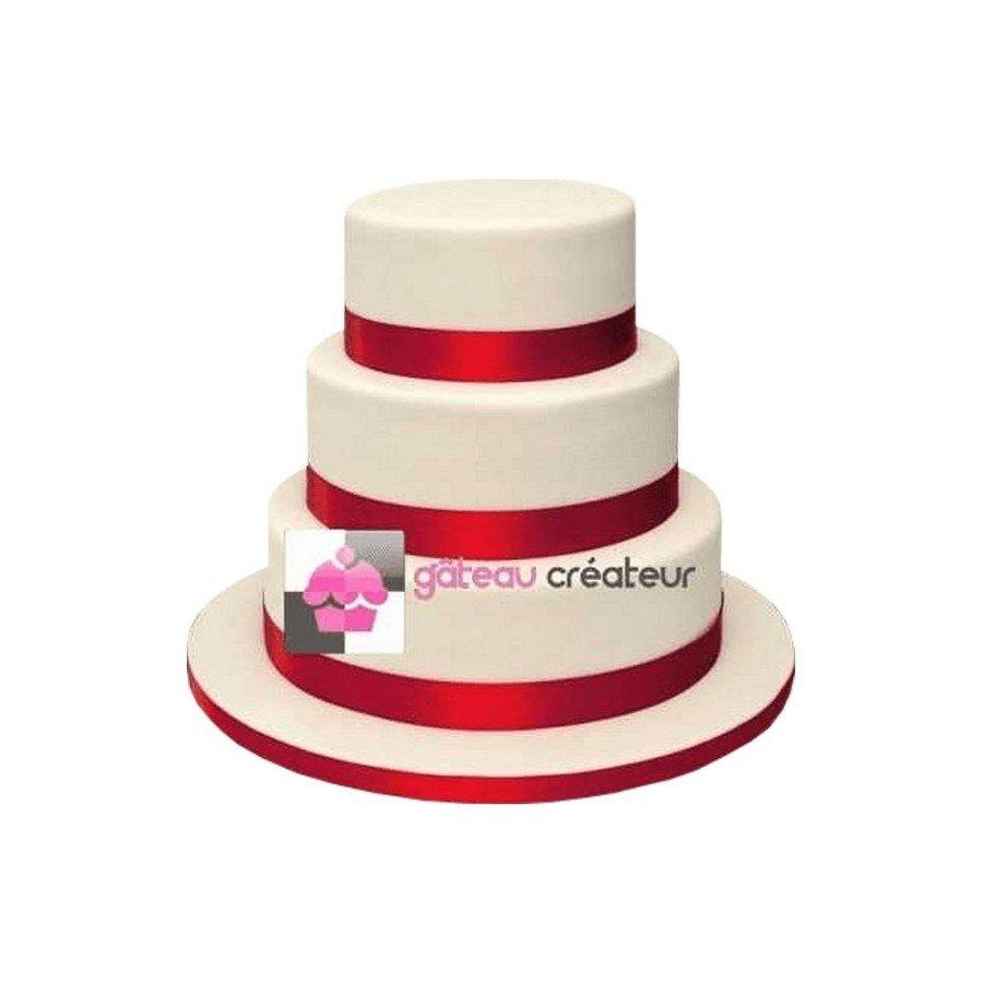 Wedding cake Rubans, couleur personnalisée - Pièce montée mariage