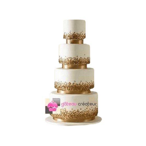 Wedding cake Pépite d'Or - Pièce montée de mariage