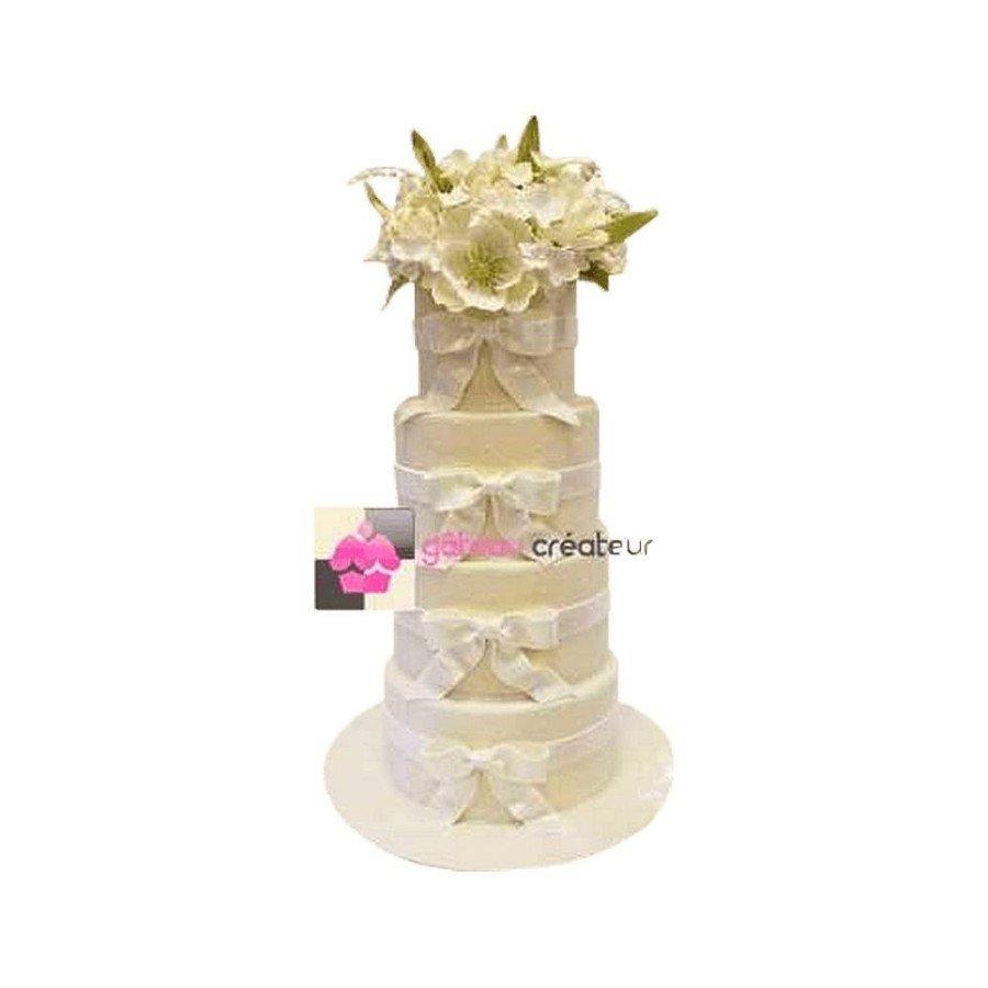Wedding cake Bouquet Floral - Pièce montée de mariage