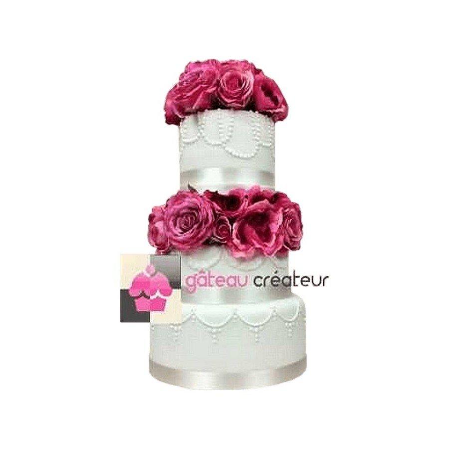 Wedding cake Douceur et perles - Pièce montée de mariage