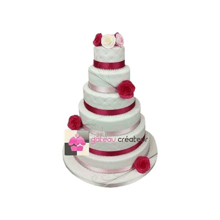 Wedding cake Rose pastel- Pièce montée de mariage