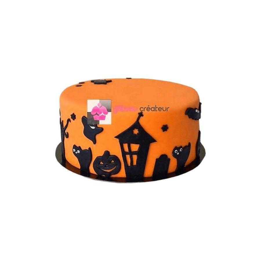Gâteau Halloween Ombre dans la nuit