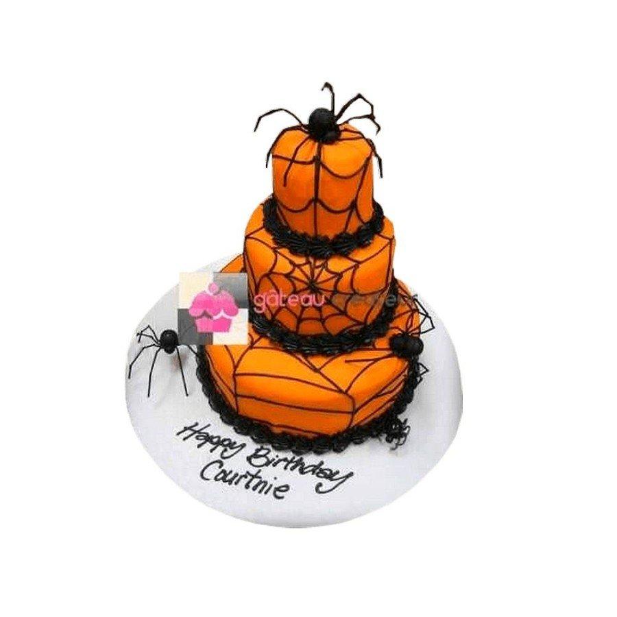Gâteau Halloween Araignée - Pièce montée
