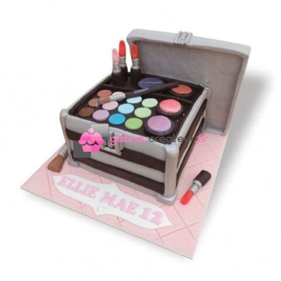 Gâteau d'anniversaire Valise, Coffre à maquillage