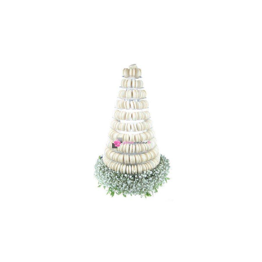 Pyramide 240 macarons blanc
