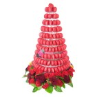 Pyramide 240 macarons rouge