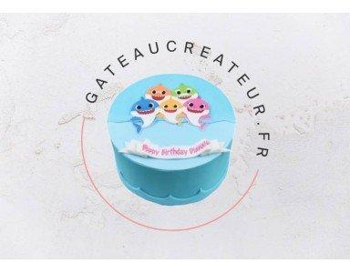 Un gâteau poisson pour un anniversaire mer et océan